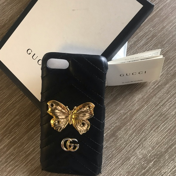 d84913bb064 Gucci Accessories - Gucci GG Marmont Butterfly Stud iPhone 7 case